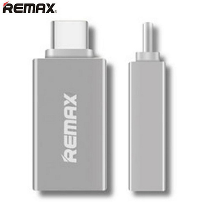 REMAX RE-OTG1 TYPE-C to USB OTG Adapter for Android Mac OS - Silver