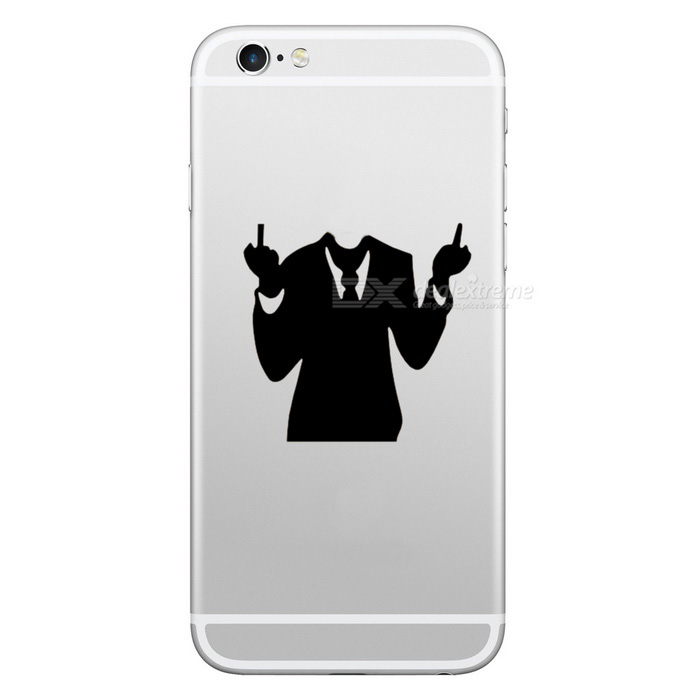 Hat-Prince Men in Suits Pattern Removable Sticker for IPHONE - White