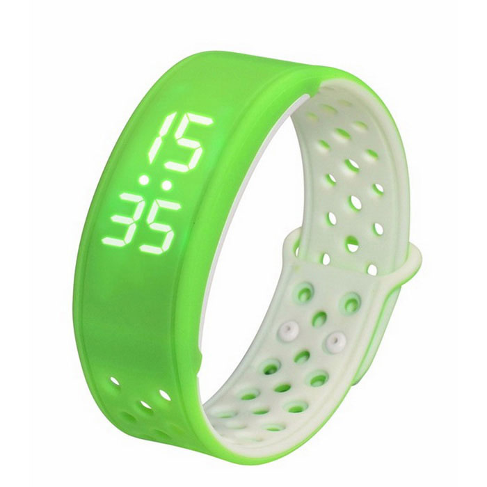 W9 Smart Band Wrist Sport Bracelet Pedometer Activity Tracker - GreenSmart Bracelets<br>Form ColorGreenModelW9Quantity1 DX.PCM.Model.AttributeModel.UnitMaterialSiliconeShade Of ColorGreenWater-proofIP67Bluetooth VersionBluetooth V4.0Touch Screen TypeNoCompatible OSAndroid 4.0 or above, iOS 7.0 or aboveBattery Capacity60 DX.PCM.Model.AttributeModel.UnitBattery TypeLi-polymer batteryStandby Time5 DX.PCM.Model.AttributeModel.UnitPacking List1 x W9 Smart Bracelet1 x Chinese / English instruction 1 x Data cable (50cm)<br>
