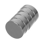 15*4mm Round NdFeB Magnet - Silver (5PCS)