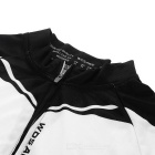 WOSAWE BC285-0XL Spring Longsleeve Cycling Jersey - Black + White (XL)