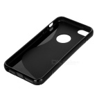 """S"" Pattern Protective TPU Back Case for IPHONE SE - Black"