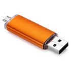 MaiKou8GB Snakes USB OTG USB Flash 2.0 U Disk - Orange
