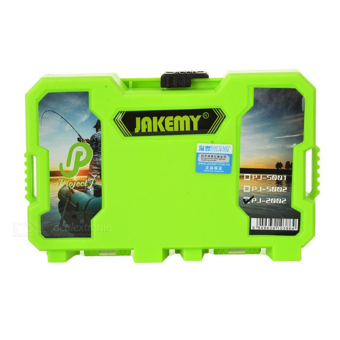 JAKEMY PJ-2002 Fishing Accessories Storage Assortment Case Box - GreenForm ColorGreenModelPJ-2002Quantity1 DX.PCM.Model.AttributeModel.UnitMaterialABS + TPRFishing Site River,Pool,Sea,Surf Fishing,Sea Boat Fishing,Rock Fishing,Reservoir,Stream,PondPacking List1 x Case<br>