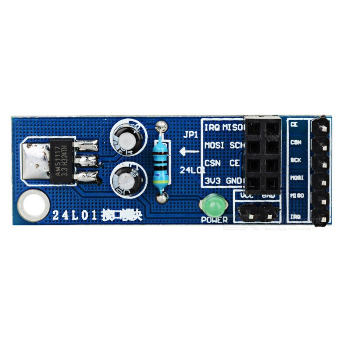 NRF24L01 Wireless Module Socket Adapter Plate Board for Arduino - BlueSensors<br>Form  ColorBlueModelTS-04Quantity1 setMaterialFR4Applicationfor Arduino scientific experiment and researchWorking Voltage   5~8 VEnglish Manual / SpecNoDownload Link   NoPacking List1 x  NRF24L01 wireless module<br>