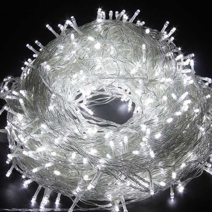Christmas Tree Twinkle Cold White LED Fairy String Lights 100LED 33ft