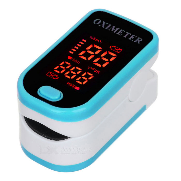 1.3 LED Fingertip Pulse Oximeter - Blue (2*AAA)Heart Rate Monitor<br>Form  ColorBlueShade Of ColorBlueMaterialPVCQuantity1 DX.PCM.Model.AttributeModel.UnitDisplayLEDTarget PositionFingerBattery Number2Power SupplyAAABattery included or notNoOther FeaturesScreen size: 1.3Packing List1 x Oximeter1 x English user manual<br>