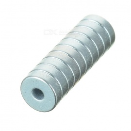 5*5*1mm NdFeB Neodymium Magnet w/ 1.5mm Hole - Silver (10PCS)
