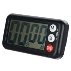 "2.6"" LCD Digital Kitchen Timer w/ Count Up Count Down Function - Black"