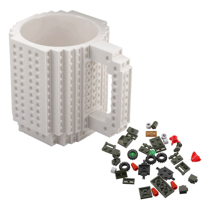 DIY Creative Building Block Puzzle Mug - White