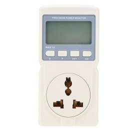 Voltage Current Power Factor Tester for Power Monitoring Socket - Grey