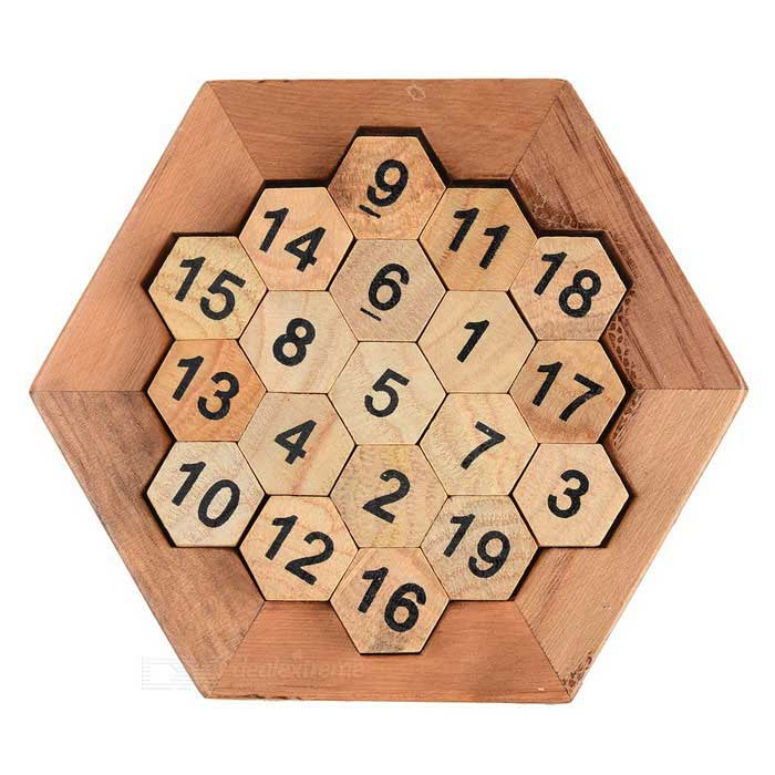Educational Sum Equal to 38 Number Board Game - Wood Color + Black