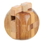 Wooden Dices Brain Teaser Lock Puzzle Educational Toy - Wood Color