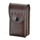 PU Leather Folding Box Case for Presbyopic Glasses - Brown