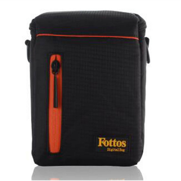 Fottos F0039 BK Camera Bag for All Mini DSLR / DV - Black + OrangeBags and Cases<br>Form  ColorBlack + Orange + Multi-ColoredModelF0039Shade Of ColorBlackMaterialNylonQuantity1 DX.PCM.Model.AttributeModel.UnitCompatible BrandAll mini DSLR and DV, such as Nikon, Canon, Sony, Olympus, etcCompatible ModelsAll mini DSLR and DV, such as Nikon, Canon, Sony, Olympus, etcInner Dimension16x11x8Dimension18x12.5x10 DX.PCM.Model.AttributeModel.UnitOther FeaturesStrap Length: Min. 60 / Max. 128cmPacking List1 x Camera Bag<br>