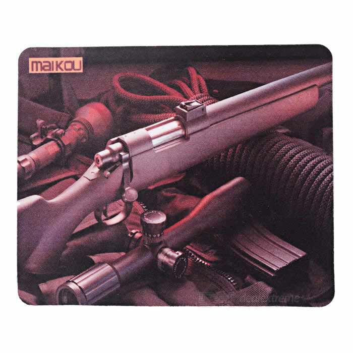 Buy MAIKOU 220*180mm Air Gun Pattern Mouse Pad Mat - Brown + Black with Litecoins with Free Shipping on Gipsybee.com