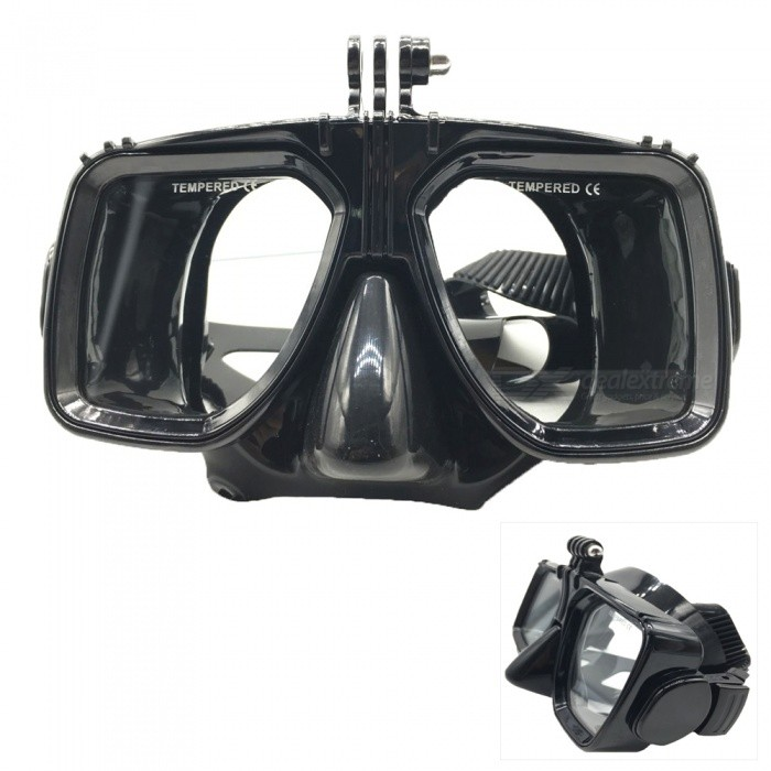 Camera Diving Glasses Mask for GoPro Hero 4 / Xiaomi Xiaoyi - BlackMounting Accessories<br>Form ColorBlackQuantity1 DX.PCM.Model.AttributeModel.UnitMaterialPlastic + tempered glassShade Of ColorBlackCompatible ModelsOthers,GoPro Hero 3,GoPro Hero 3+,GoPro Hero 4,GoPro Hero 4 Session,XiaoyiRetractableNoMax.Load800 DX.PCM.Model.AttributeModel.UnitPacking List1 x Diving glasses<br>