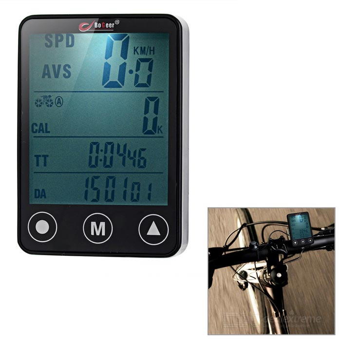 BOGEER  Wireless Bike Computer - Black (1*CR2032)