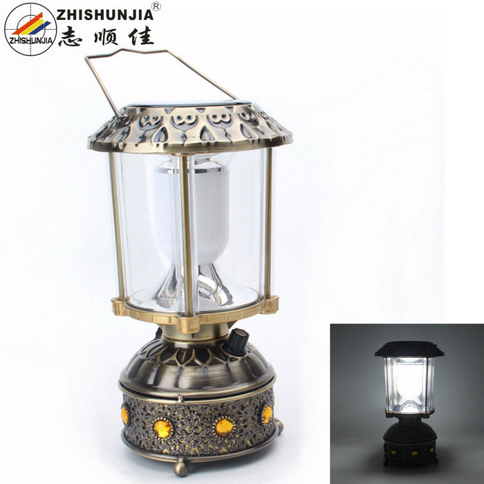 ZHISHUNJIA Solar Charging 240lm 10 White LED Camping Lamp (3*AAA)