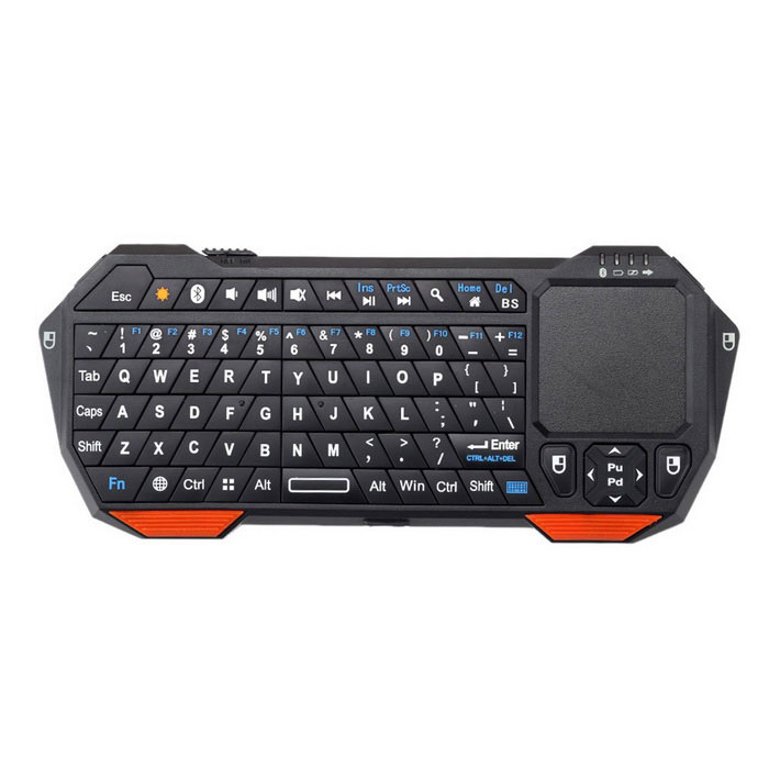 Mini Portable Wireless Bluetooth Keyboard w/ Mouse & Touchpad - Black