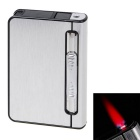 Automatic 12 Sticks Cigarettes Case & Lighter Creative Gift - Silver