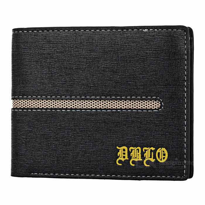 DBLO Men's Short PU Leather Wallet Purse w/ Card Slots - Blue