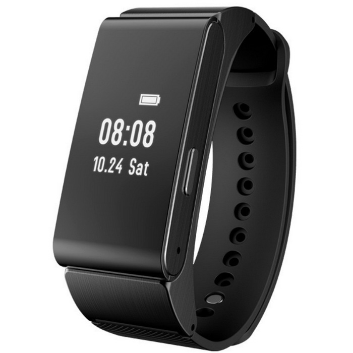 M8 Smart Bracelet Bluetooth Headset w/ Pedometer + More - BlackSmart Bracelets<br>Form  ColorBlackModelM8Quantity1 DX.PCM.Model.AttributeModel.UnitMaterialLeather + aluminium alloyShade Of ColorBlackWater-proofOthers,IP57Bluetooth VersionBluetooth V3.0,Bluetooth V4.0Touch Screen TypeOthers,Display 0.96 VA screen, 64*128pixel, vertical displayCompatible OSAndroid 4.3 &amp; iOS7.0 and aboveBattery Capacity85 DX.PCM.Model.AttributeModel.UnitBattery TypeLi-ion batteryStandby Time7 DX.PCM.Model.AttributeModel.UnitPacking List1 x m8 samrt bracelet1 x English instruction1 x Data cable (50cm)<br>