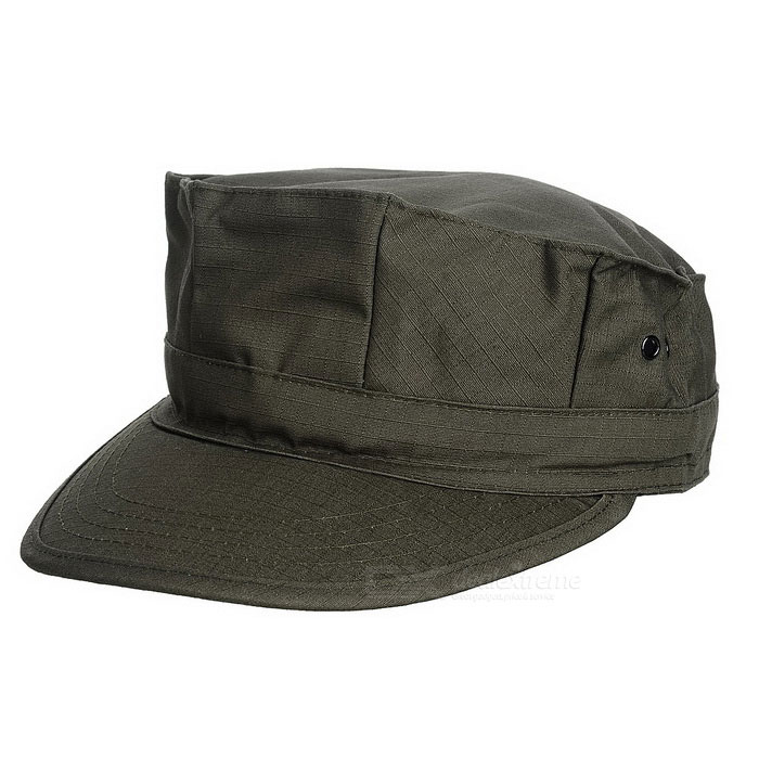 Miesten Outdoor Cotton Flat Top Military Cap Hat - Army Green