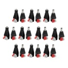 Free Welding 5.5 x 2.1mm Female + Male Plug Adapters - Red + Black