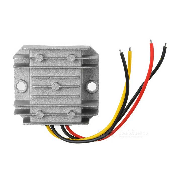 DC 12V / 24V to DC 5V 5A 25W Car LED Screen Step Down Power ConverterCar Power Inverters<br>Form  ColorSilverModel-Quantity1 DX.PCM.Model.AttributeModel.UnitMaterialAluminium alloyInput Voltage12~24 DX.PCM.Model.AttributeModel.UnitSocket Output VoltageOthers,-Socket Output Current- DX.PCM.Model.AttributeModel.UnitUSB Output Voltage- DX.PCM.Model.AttributeModel.UnitOutput Current5 DX.PCM.Model.AttributeModel.UnitContinuous Output Power25 DX.PCM.Model.AttributeModel.UnitPeak Output Power- DX.PCM.Model.AttributeModel.UnitWaveform TypeOthers,-Output Socket-Conversion Efficiency96%Output Frequency-Over Voltage ProtectionYesLow-voltage ProtectionYesOvertemperature ProtectionYesIndicator LightNoPower Cable15cmApplicationOthers,Car speaker, LCD TV, LED, intercom, monitoring system etcOperating Temperature-40 ~+85 DX.PCM.Model.AttributeModel.UnitPacking List1 x Converter<br>
