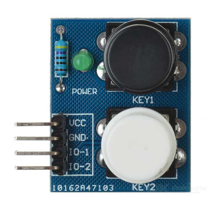 2-Independent Key Touch Button Module Sensor for Arduino - BlueSensors<br>Form  ColorBlueModel-Quantity1 setMaterialFR4ApplicationArduino scientific researchWorking Voltage   3~6 VEnglish Manual / SpecNoPacking List1 x Module<br>