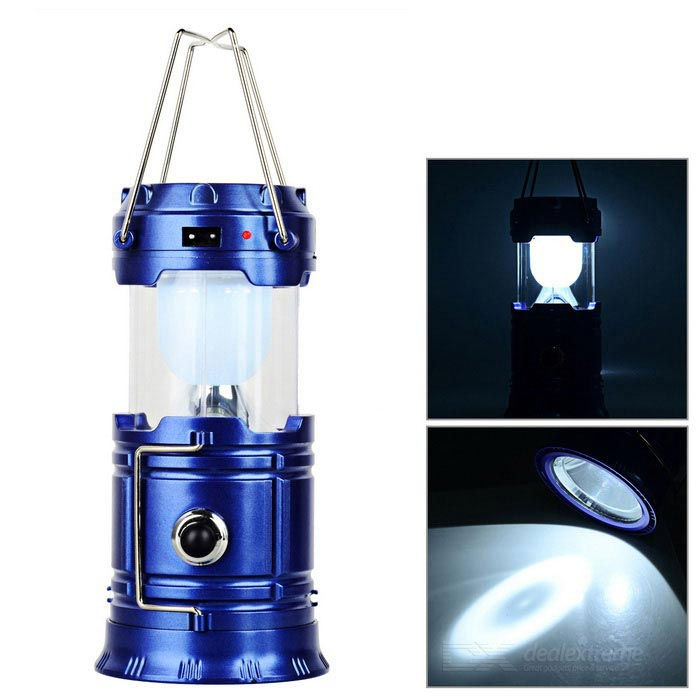 Waterproof Solar 6-LED White Light Tent Lamp / Flashlight - BlueOutdoor Lantern<br>Form  ColorBlueQuantity1 DX.PCM.Model.AttributeModel.UnitMaterialABSEmitter BINLEDNumber of Emitters6Color BINWhiteBattery TypeSolar,Others,AC 100~220VBattery Numberpowered by AC 100~220VBattery included or notNoNumber of Modes2Actual Lumens0 DX.PCM.Model.AttributeModel.UnitLantern TypeOthers,Tent lampBest UseFamily &amp; car camping,Backpacking,Camping,Mountaineering,Travel,FishingPacking List1 x Tent lamp1 x US plug charging cable (Input voltage: 100~220V, 49+/-2cm)<br>