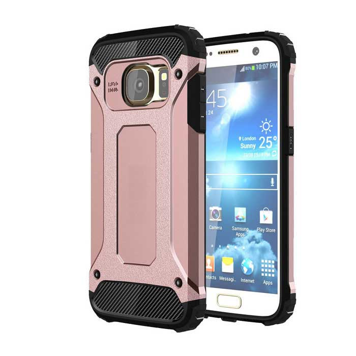 2-in-1 Protective Back Case for Samsung Galaxy S7 - Black + Rose GoldTPU Cases<br>Form ColorBlack + Rose GoldModelN/AQuantity1 DX.PCM.Model.AttributeModel.UnitMaterialOthers,TPU + PCShade Of ColorGoldCompatible ModelsSamsung Galaxy S7DesignMixed Color,With Anti Dust PlugStyleBack CasesPacking List1 x Case<br>