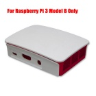 Raspberry Pi ABS Case for Raspberry Pi 3 Model B Only - White + Red