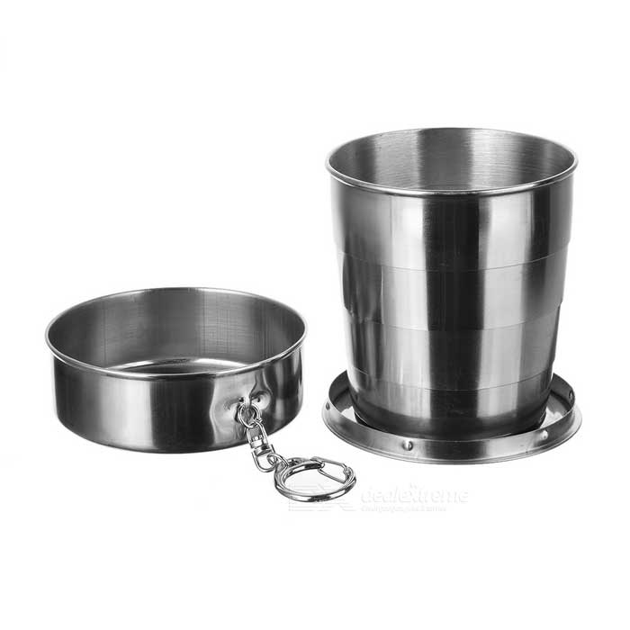 AoTu AT6643 304 Stainless Steel 4-Section Folding Cup - Silver (250ml)