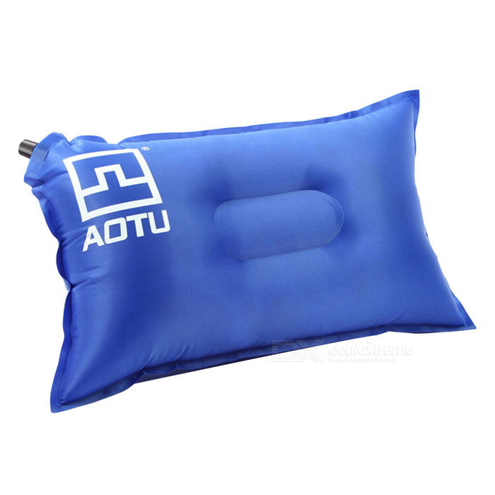 Aotu AT6222 Outdoor Praktische lucht opblaasbare Camping Pillow - Blue