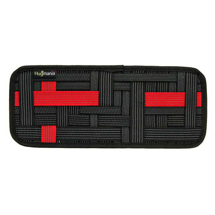 Hugmania Car Visor Storage Woven Housing Board - Musta + Punainen