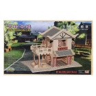 WP-160 DIY Assembly Tea House Model Toy - Tre Color + Red