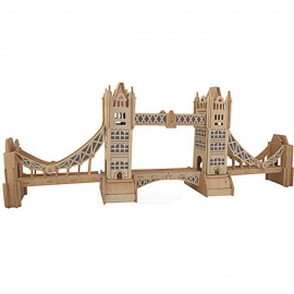 G-P055-DIY-Assembly-Tower-Bridge-Model-Toy-Wood-Color-2b-Blue