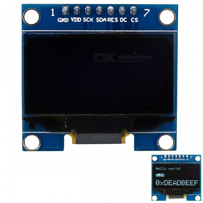SH1106 OLED Display Module for Arduino - Blue + Black
