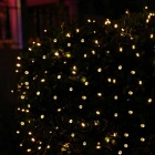 Solarbetriebene dekorative Twinkle LED Light String Warm Weiß - Schwarz