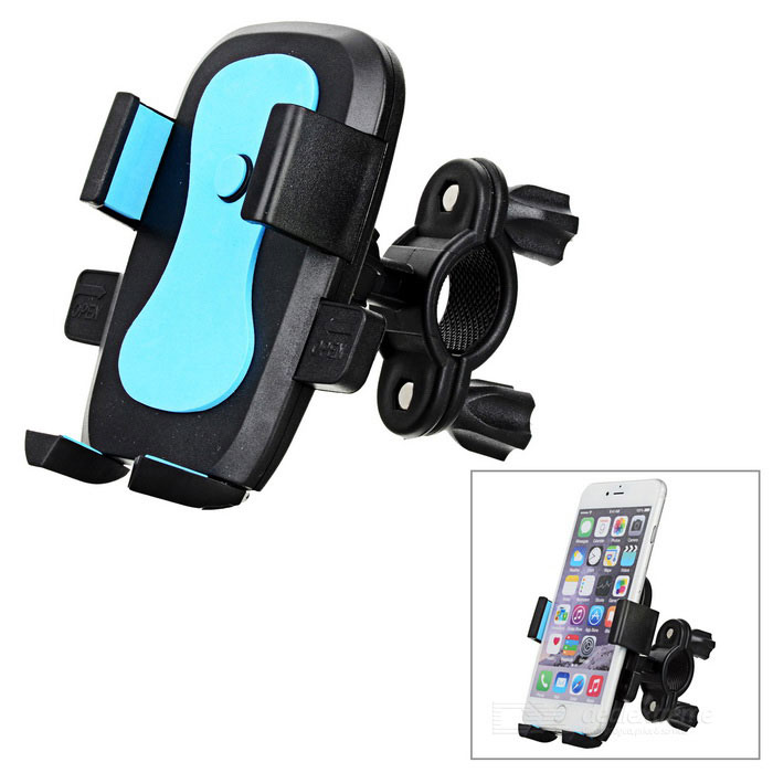 Bike Mount Holder for 5.5~8.5cm Cell Phone - Black + BlueBike Holder<br>Form  ColorBlack + BlueQuantity1 DX.PCM.Model.AttributeModel.UnitMaterialABSBest UseCycling,Mountain Cycling,Recreational Cycling,Road Cycling,Bike commuting &amp; touringTypePhone HoldersOther FeaturesCompatible phone width: 5.5~8.5cmPacking List1 x Phone holder1 x Bike clamp mount<br>