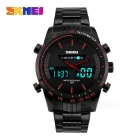 SKMEI Dual Display Men's Watch - Black + Red (1*CR2025 / 1*SR626SW)