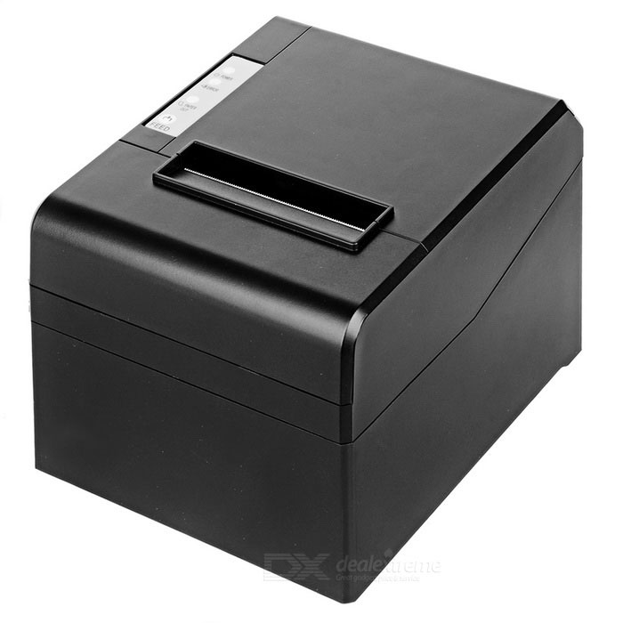 Buy 80mm Thermal Receipt Printer with USB RS232 LAN Interface - Black with Litecoins with Free Shipping on Gipsybee.com