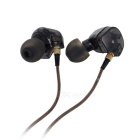 KZ ATE universel 3.5mm plug in-ear earphone - noir translucide