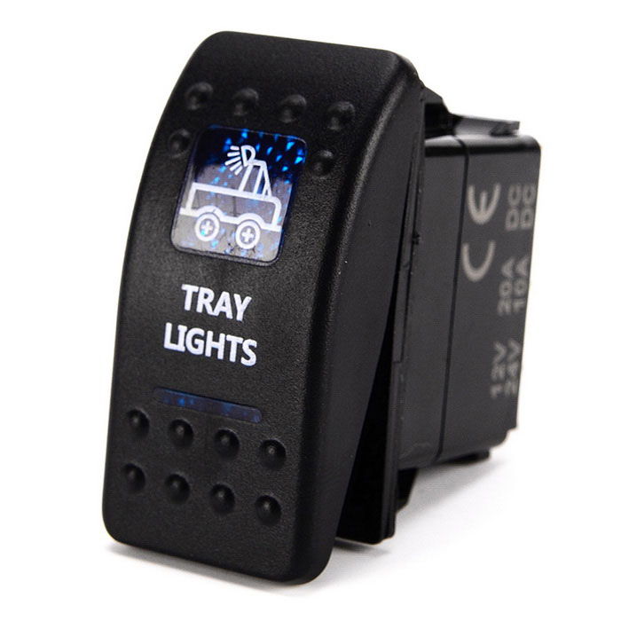 IZTOSS S1005 5Pin Rocker Switch w/ 2-LED Blue Indicator Light - BlackCar Switches<br>Form ColorBlack - Tray LightModelS1005Quantity1 DX.PCM.Model.AttributeModel.UnitMaterialABSIndicator LightYesRate Voltage12~24VRated Current10 DX.PCM.Model.AttributeModel.UnitOther FeaturesProduct polarity: SPST; Product switching function: ON-OFF; Product terminal number: 5; Product with light: 2 lights; Product installation rule: 37.2*21.2mm; Product maximum continuous load: 125V/10A, 2V/20A, 24V/10A, AC; Product maximum load and time: 12V/23A, 24V/11.5A DC, 5 seconds / 1 time, can last for 30 times; Product minimum current load: minimum current load can be up to (0); Product DC maximum voltage: 30V; Product DC minimum voltage: 3V; Product maximum contact load: 125V/10A, 2V/20A, 24V/10A, AC; Product break the maximum contact: 1500V AC 1 minute; Product work cycle: 5 seconds / 1 time; Product life cycle without load: 20000 times; Product life cycle with full load: 10000 times; The product contact materials / components: silver tin oxide / copper; Product operating temperature range: ten 30K; Product protection grade: IP66; Product material: CE certification quality, environmental protection and fire retardant materialsCertificationCEPacking List1 x Switch<br>