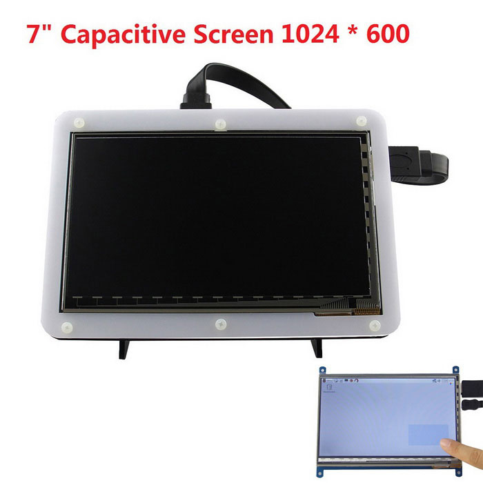 7quot Capacitive Touch Screen for Raspberry Pi 3 Model B / 2B / B+ / B