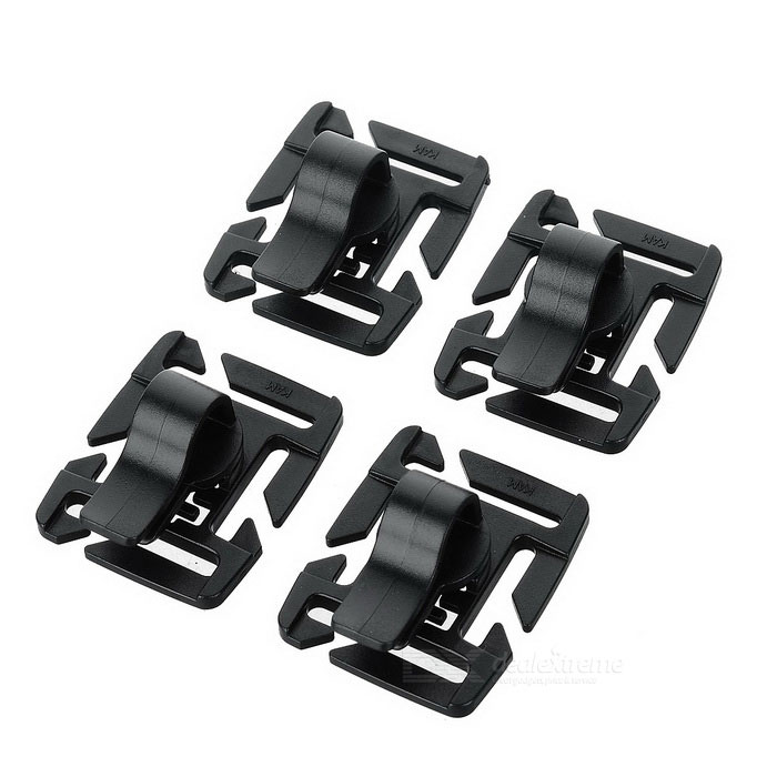 Aotu 360' Rotatable Water Pipe Clamp for Shoulders Bag - Black (4PCS)