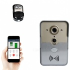 Wireless Wi-Fi 1/4 COMS 1.3MP Smart Doorbell w/ Night Vision - Silver
