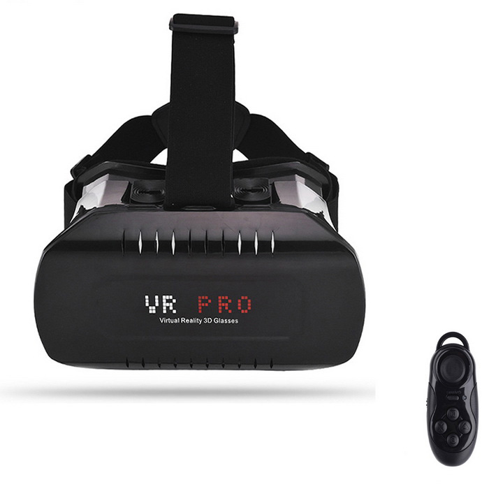 "VR 3D Glasses + Bluetooth Controller for 3.5~6.2"" Phone - Black"